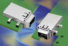 Connector saves space in IEEE 1394 applications.