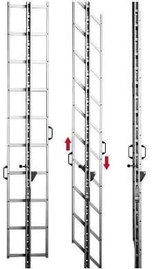 Foldable Ladder prevents unauthorized access.