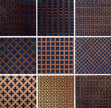 Screening Panels come in 13 different patterns.