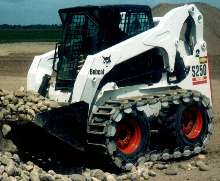 Steel Tracks are designed for use with skid-steers.