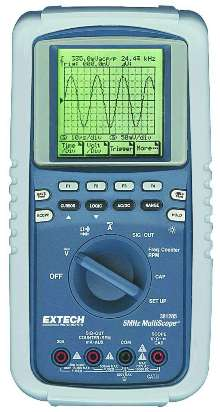 Oscilloscope/Multimeter includes RS-232 interface.
