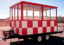 Mobile Booths offer portability and visibility.
