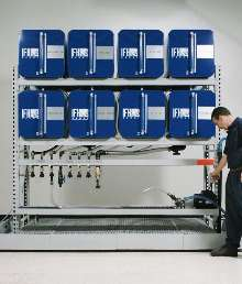 Storage/Dispensing System handles oils and lubricants.