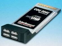 PC Card provides four USB 2.0/1.1 ports.