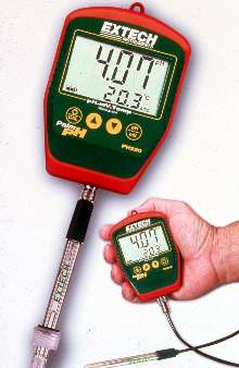 Handheld pH Meter offers choice of stick or cabled electrode.