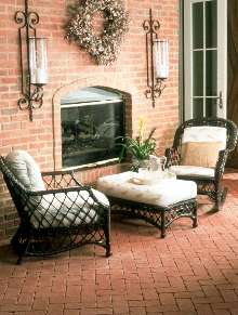 Clay Pavers provide aged, worn look.