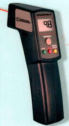 IR Thermometer Gun takes instant surface temp readings.