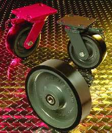 Caster Wheels have 70 durometer polyurethane tread.