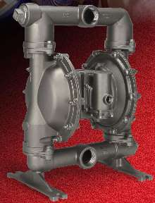Diaphragm Pump is constructed of stainless steel.