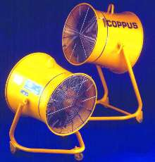 Portable Air Mover helps cool products and workers.