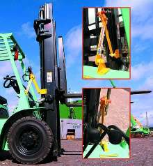 Leveling Device suitable for forklift trucks.