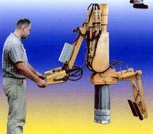 Articulating Manipulator includes coil lifter gripper.