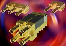 Modular Coaxial Connectors offer 2, 3, or 4 ports.