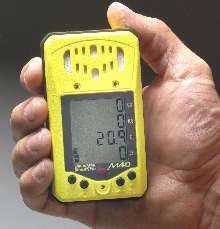 Gas Detector simultaneously monitors up to 4 gases.