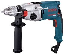 Hammer Drill features rotating brush plate.