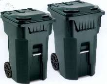 Injection-Molded Carts handle residential waste.