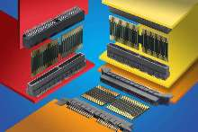 Interconnects meet high-speed, board stacking requirements.