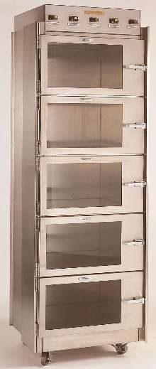 Desiccator Cabinet provides pressurized storage space.