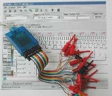 USB Logic Analyzer samples at up to 500 MHz.