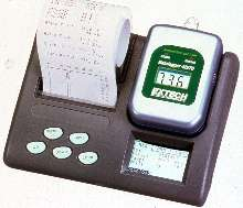 Temperature/Humidity Data Logger has programmer with printer.