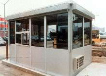 Parking Booths protect against vandalism and severe weather.