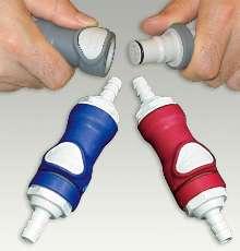 Coupling has non-spill valve design.