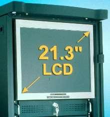 LCD Display (21.3 in.) mounts in 19 in. rack.
