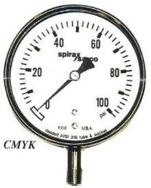 Pressure Gauge offers stainless steel bourdon tube.