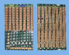 Backplane interfaces with shelf-management modules.