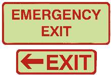 Photoluminescent Signs exceed APTA safety requirements.