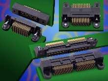 Connectors secure perpendicular and co-planar boards.