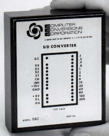Synchro to Digital Converters handle two-speed inputs.