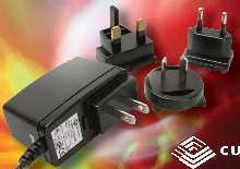 Switching Power Supply offers interchangeable input plugs.