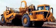 Wheel Tractor Scrapers have dual power capabilities.