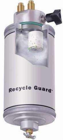 Separator protects a/c recovery/recycling equipment.