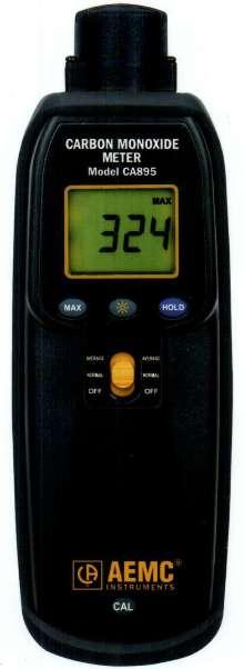 Carbon Monoxide Meter has 0-1,000 ppm measurement range.
