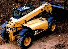 Telehandlers feature electronically controlled engine.