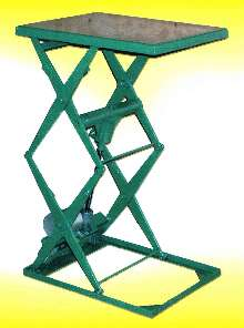 Double Scissor Lift can lift 150 lb up to 70 in. high.