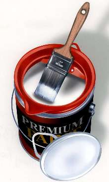 Pouring Spout provides clean paint handling and storing.