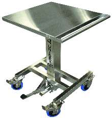 Mobile Lift Table suits sanitary/corrosive environments.