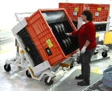 Ergonomic Cart handles tall containers.