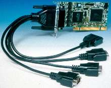 Serial Communication Cards fit any PCI slot.