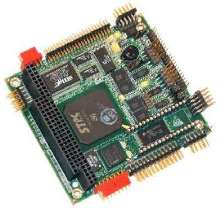 PC/104 Module delivers 4 serial ports, video, and Ethernet.
