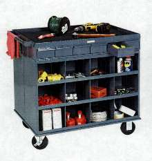 Mobile Cart/Workstations include 1,000 lb capacity casters.