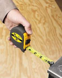 Measuring Tape enables one-person operation.
