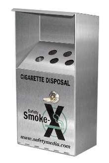 Receptacle provides litter-free disposal of cigarettes.