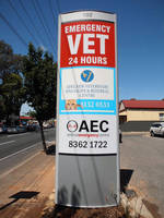Vista System's Eye Catching Illuminated Double Sided Pylon Was Recently Installed at a Leading Veterinary Center Located in Adelaide, Australia
