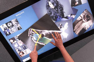 Large Format Zytronic Multi-Touch Screens Incorporated into DisplayLite Touch Table