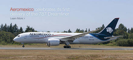 Boeing and ILFC Deliver First 787 Dreamliner to Aeromexico