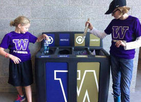 Huskies Going Green: University of Washington Athletic Department Installs GreenDrop Recycling Stations